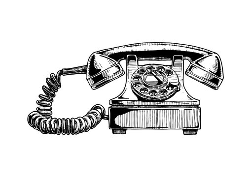 rotary dial telephone of 1940s