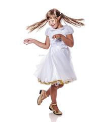 girl dancing isolated