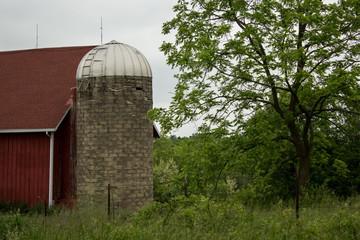 Rustic Barn with Silo