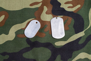 Army badge on the background of camouflage