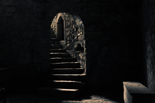Castle dungeon with a beam of light