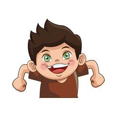 the little cute boy cartoon adorable image vector illustration
