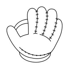 glove baseball related icon image vector illustration design  black line