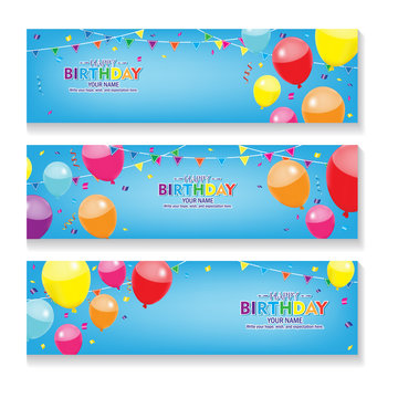 Blue Disco Party Banner INSTANT DOWNLOAD with EDITABLE text Bunting Custom Banner Party Decorations Happy Birthday Banner
