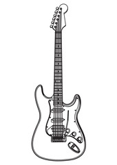 Electric Guitar Coloring Picture