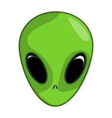 Alien, ufo  face vector symbol icon design.