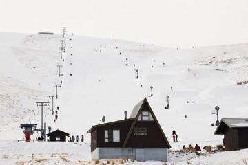 Roundhill ski area near Lake Tekapo