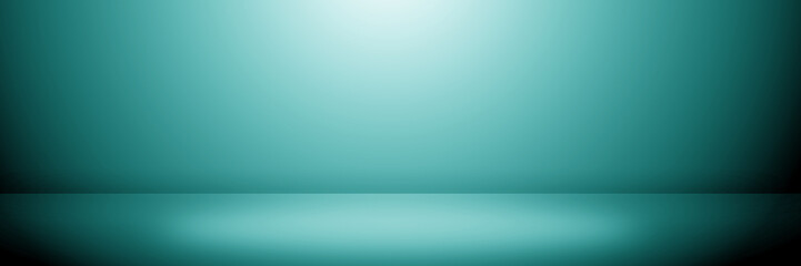 Abstract blue color background, empty gradient color for product display