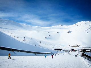 Mt Hutt, the famous ski field in New Zealand