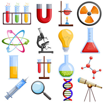 Medical and laboratory science icon set