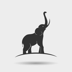 Elephant silhouette design