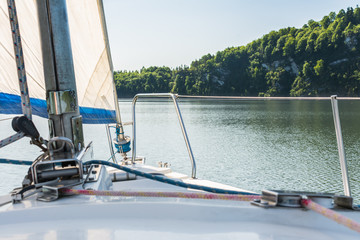 Sailing boat on the lake.