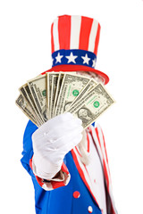 USA: Uncle Sam Holds Out Money Fan