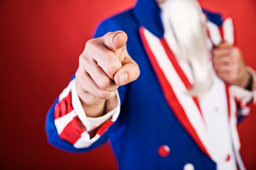 USA: Traditional Uncle Sam Pointing At You