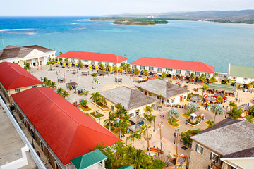 Falmouth port in Jamaica island, the Caribbeans