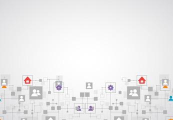 Social media vector background. Network concept.