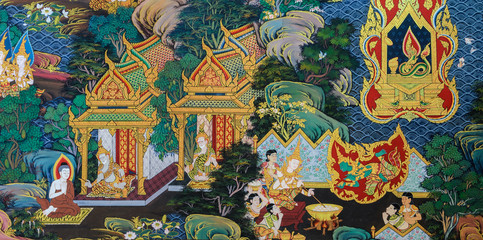 Thai mural painting art