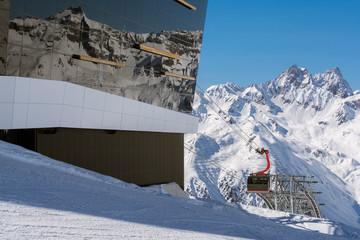 Ischgl Pardatschgratbahn und Alpenpanorama