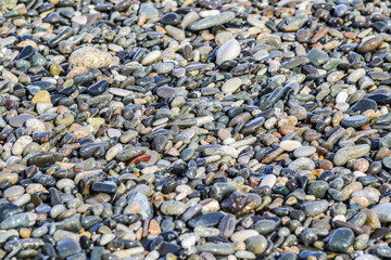 Texture of rock, stone on a a beach.