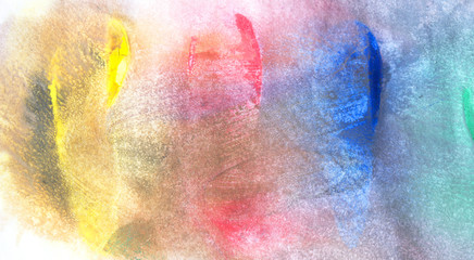 Watercolor painting on paper textured