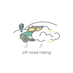 Off-road ride line icon