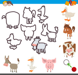 educational activity of matching shapes