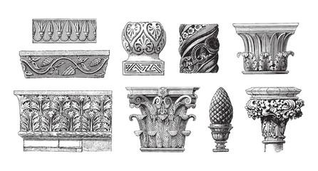 Ornaments collection / vintage illustration