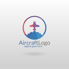 Aircraft logo. Air Travel Logo Template