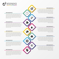 Modern Infographics Process Template. Timeline concept. Vector