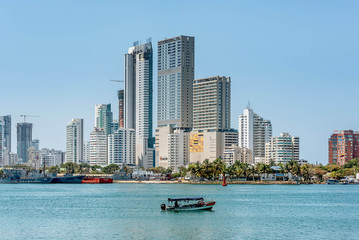 Papiers peints Chicago Skyline of the city Cartagena, Colombia