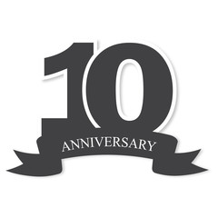 ten years anniversary celebration logotype. 10th anniversary logo