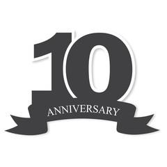 ten years anniversary celebration logotype. 10th anniversary logo