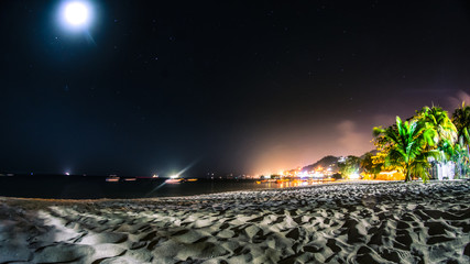 Starry night by the beach