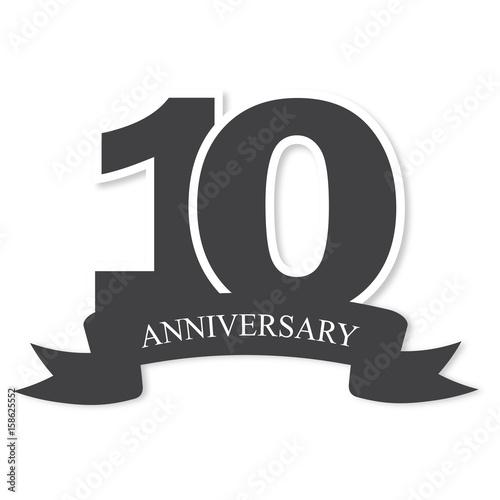 Ten Years Anniversary Celebration Logotype 10th Anniversary Logo