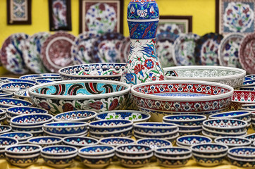 Traditional Turkish decorative ceramics for interior decoration