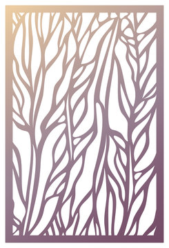 Vector Laser cut panel. Abstract Pattern template for decorative panel. Template for interior design