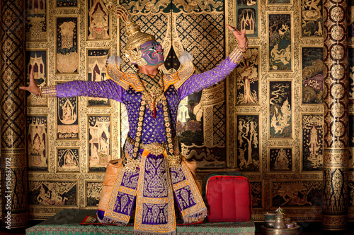 KHON RAMA Thailand Character in Ramayana story culture in