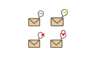 message icon logo concept