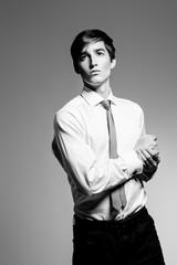 purposeful young man