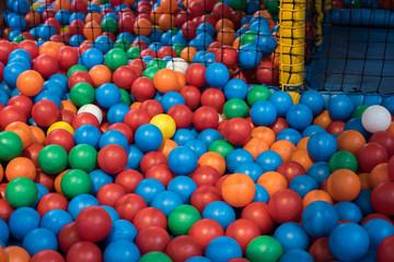 Indoor Children's Play Center. Colorful balls