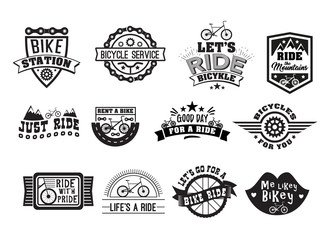 Bike badge vintage style set