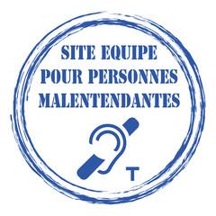 Logo site équipé pour personnes malentendantes.
