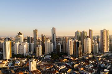 Skyline of buildings in Sao Paulo (Tatuape) city, Brazil