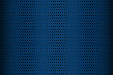 Blue perforated metal texture, abstract background, vector illustration