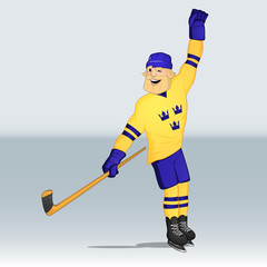 ice hockey team sweden player