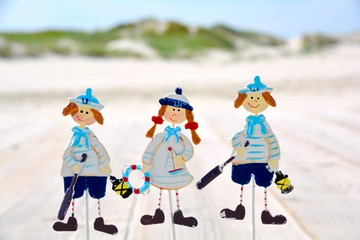 Wall Mural - Grußkarte - Strand Kinder