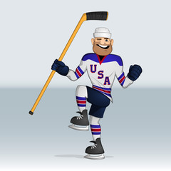USA team ice hockey player