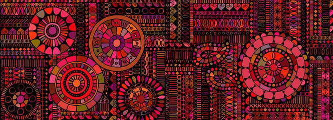 Fototapeta Abstract background similar to an ethnic carpet obraz