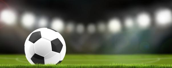 soccer football ball stadium 3d rendering