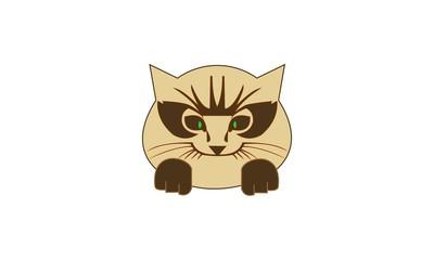 Brown cat logo